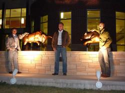 Bull & Bear at night