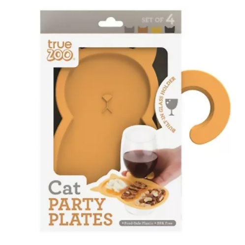 Cat Party Plates - 4/pack