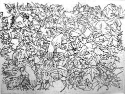 Sous la voûte des feuilles endormies eta