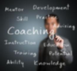 business man writing coaching concept.jp