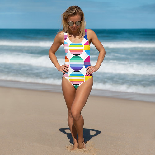 Pride Circle Flags One-Piece Swimsuit