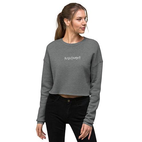 """Introvert"" Crop Sweatshirt"