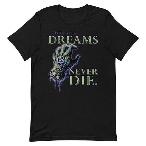 """""""DREAMS NEVER DIE"""" Mask Back Unisex Tee"""