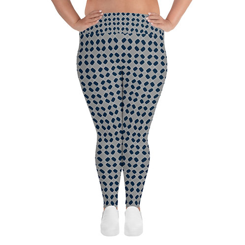 Mask Print Curvy Leggings
