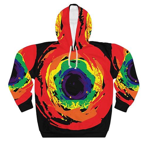 Rainbow Vortex Art Hoodie