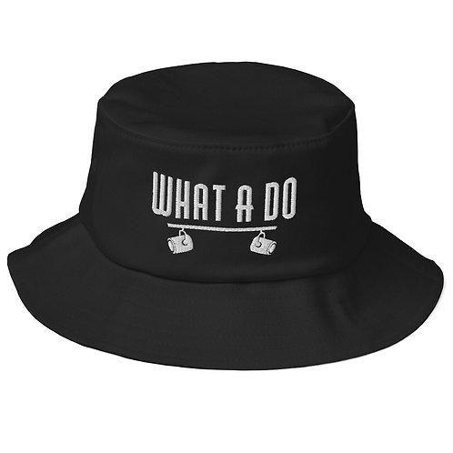 Embroidered What A Do Logo Old School Bucket Hat