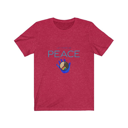 """Let There Be PEACE"" Distressed Look Comfy Tee"