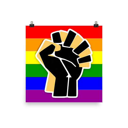 LGBTQ+/BLM Ally Poster [More Options]