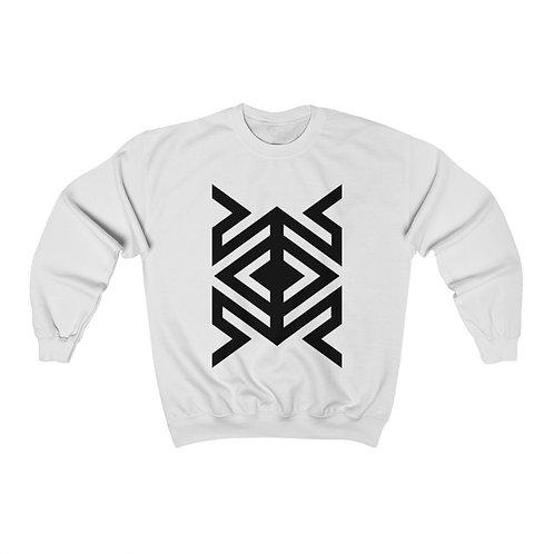 David Rose Geometric Pattern Crewneck Sweatshirt