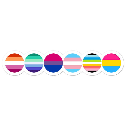 Pride Flag Circles Stickers