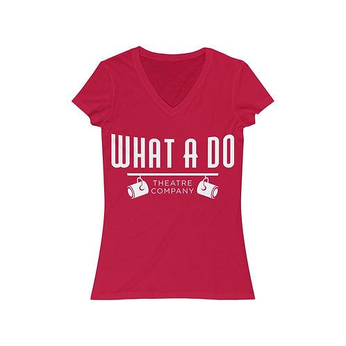 What A Do Logo Women's Jersey V-Neck Tee
