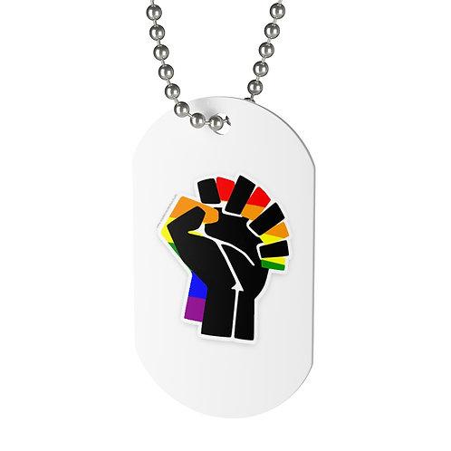 """LGBTQ+ BLM Ally """"Dog"""" Tag"""