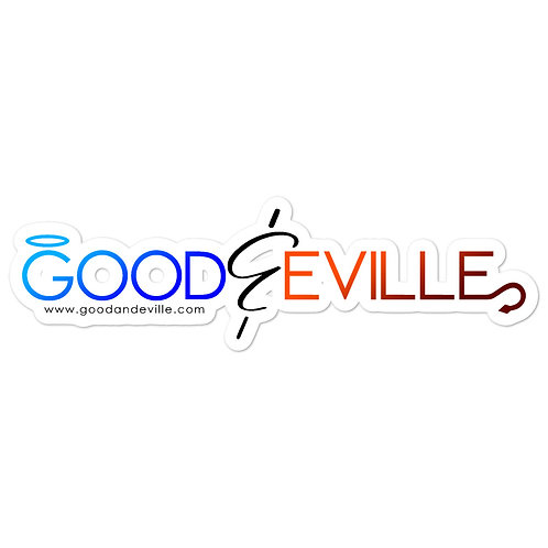 """""""Good and Eville"""" Official Logo stickers"""
