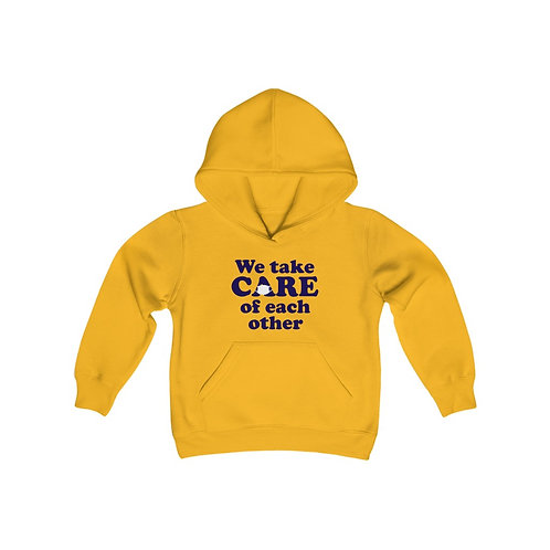We take CARE of each other YOUTH Hoodie