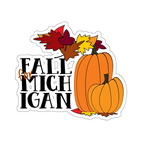 """Fall for Michigan"" Stickers"