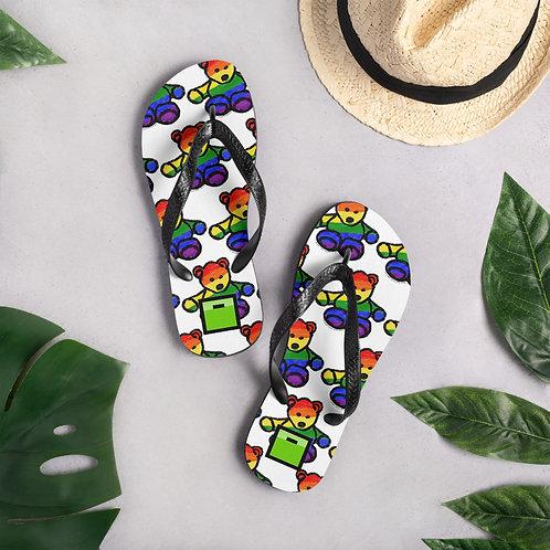Pride Bear Flip-Flops