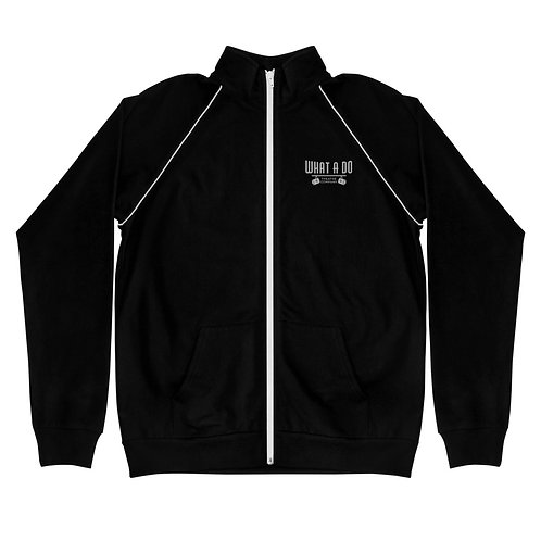 Embroidered What A Do Logo Piped Fleece Jacket