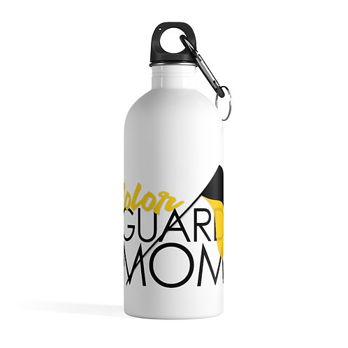 """""""Color Guard Mom"""" Stainless Steel Water Bottle"""