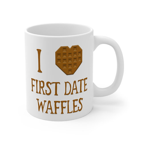 """I [heart] First Date Waffles"" Mug"
