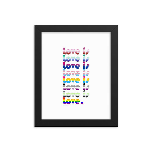 Love is Love Pride Flags Framed Poster [More Options]