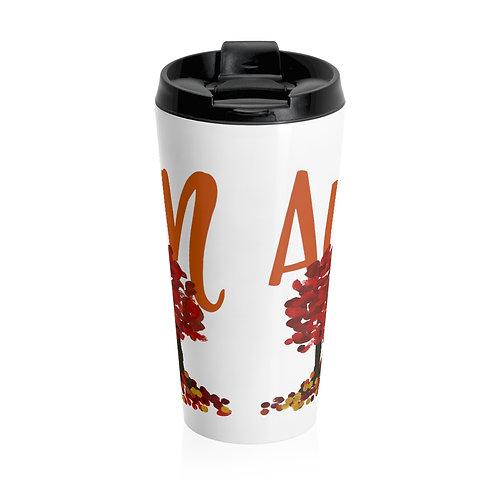 Autumn Trees Stainless Steel Travel Mug