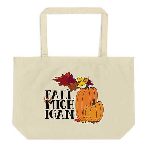 """Fall for Michigan"" Large Organic Tote"