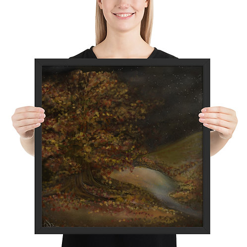 """""""Autumn Night"""" Framed Print [Multiple Sizes]"""