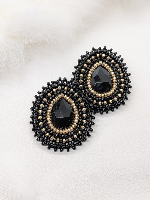 Classic Teardrops (Black and Gold)