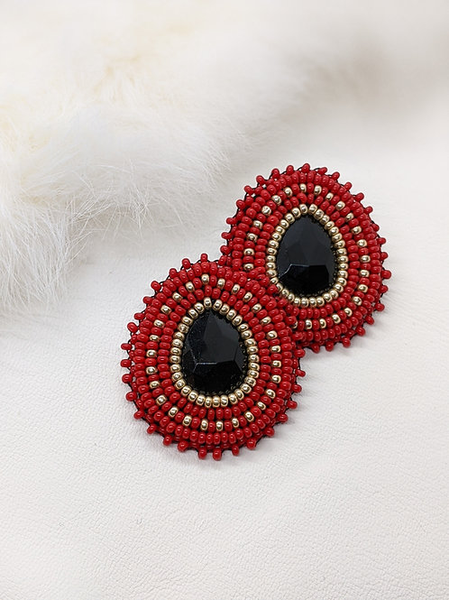 Classic Teardrops (Red and Gold)