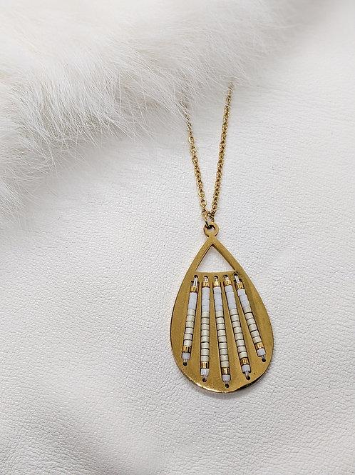Custom Gold Plated Teardrop Pendant & Chain