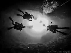 Deep Cave diving Cenote Zapote