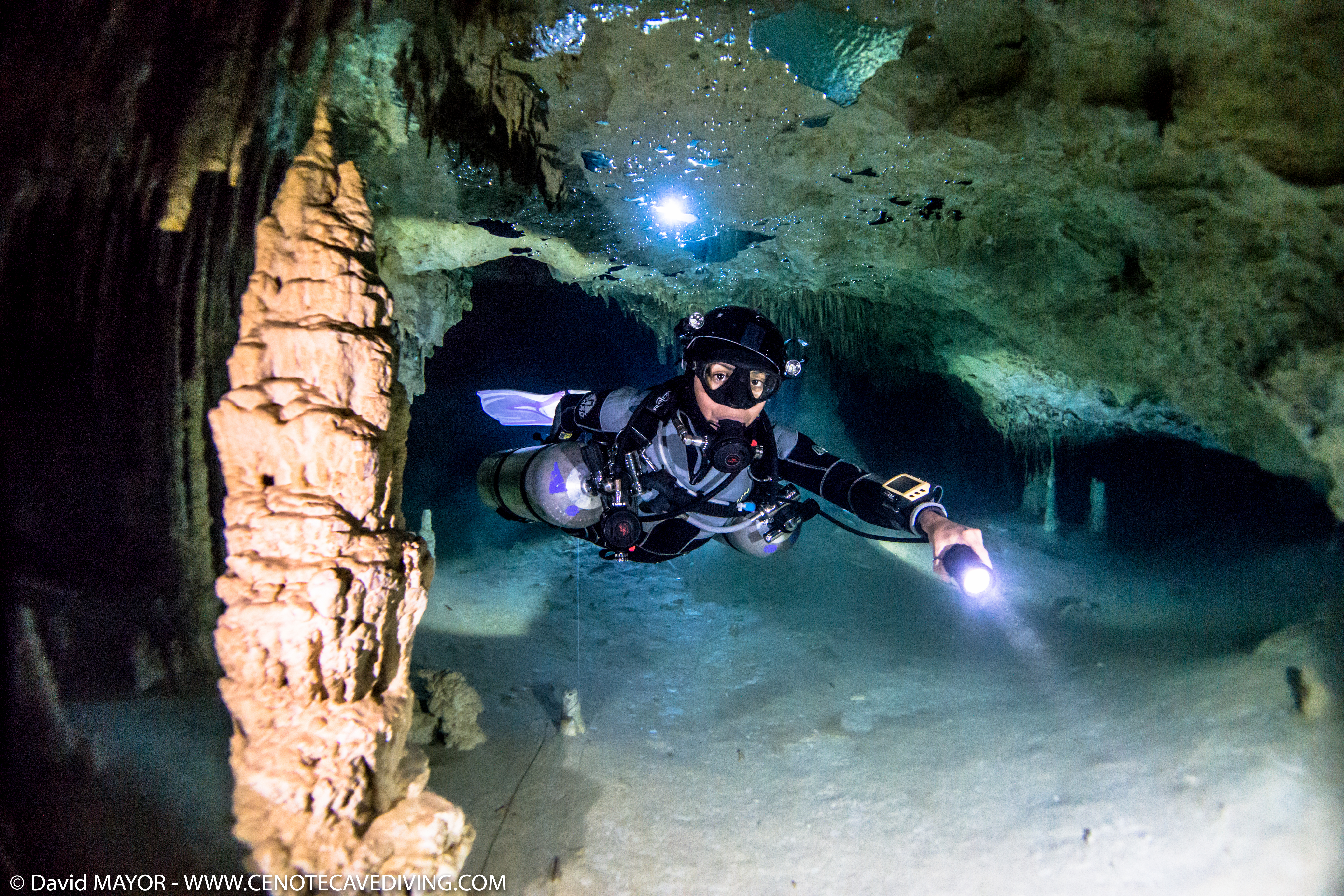 Cave Diving at Cenote Caracol