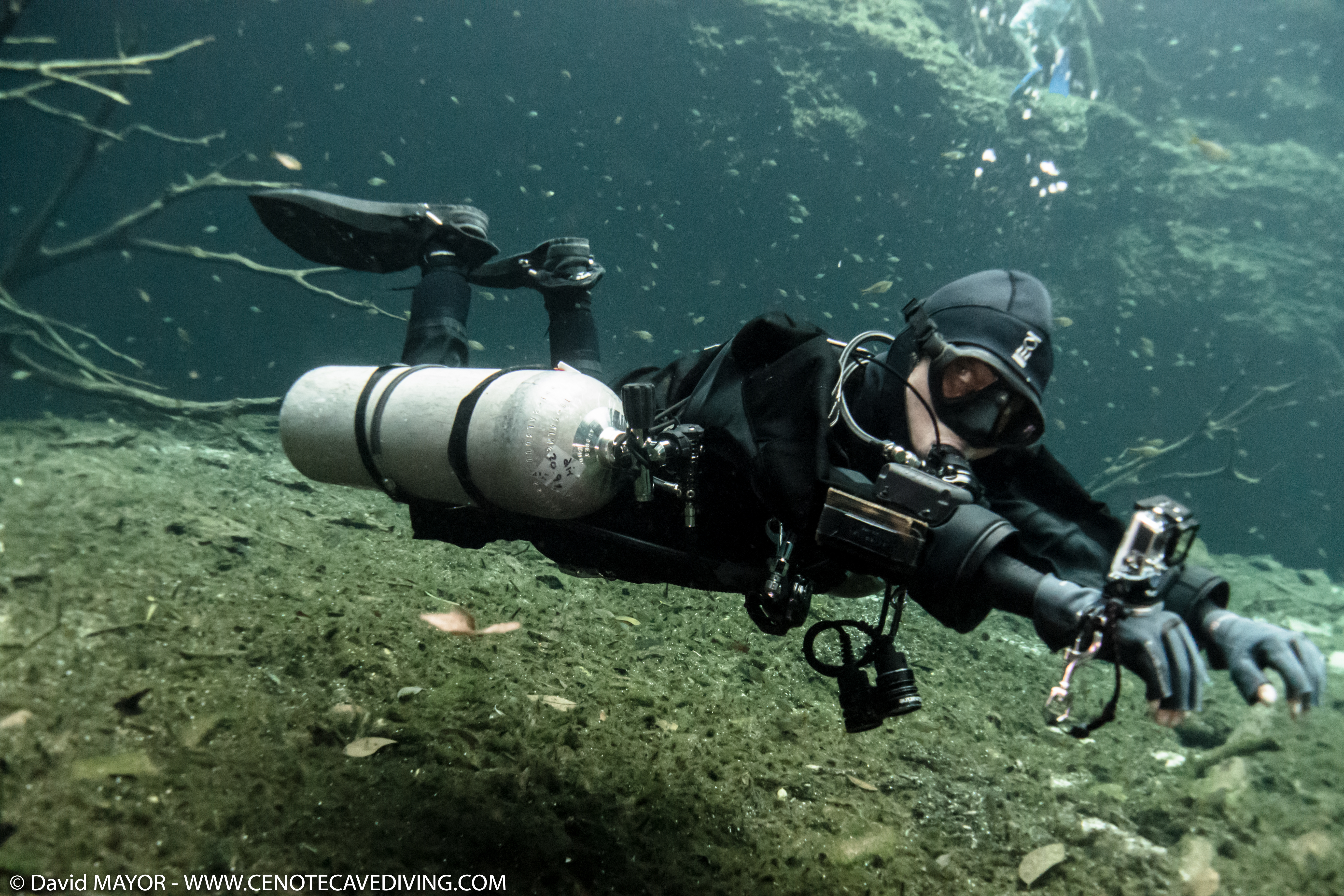 Cave Diving at Cenote Car Wash