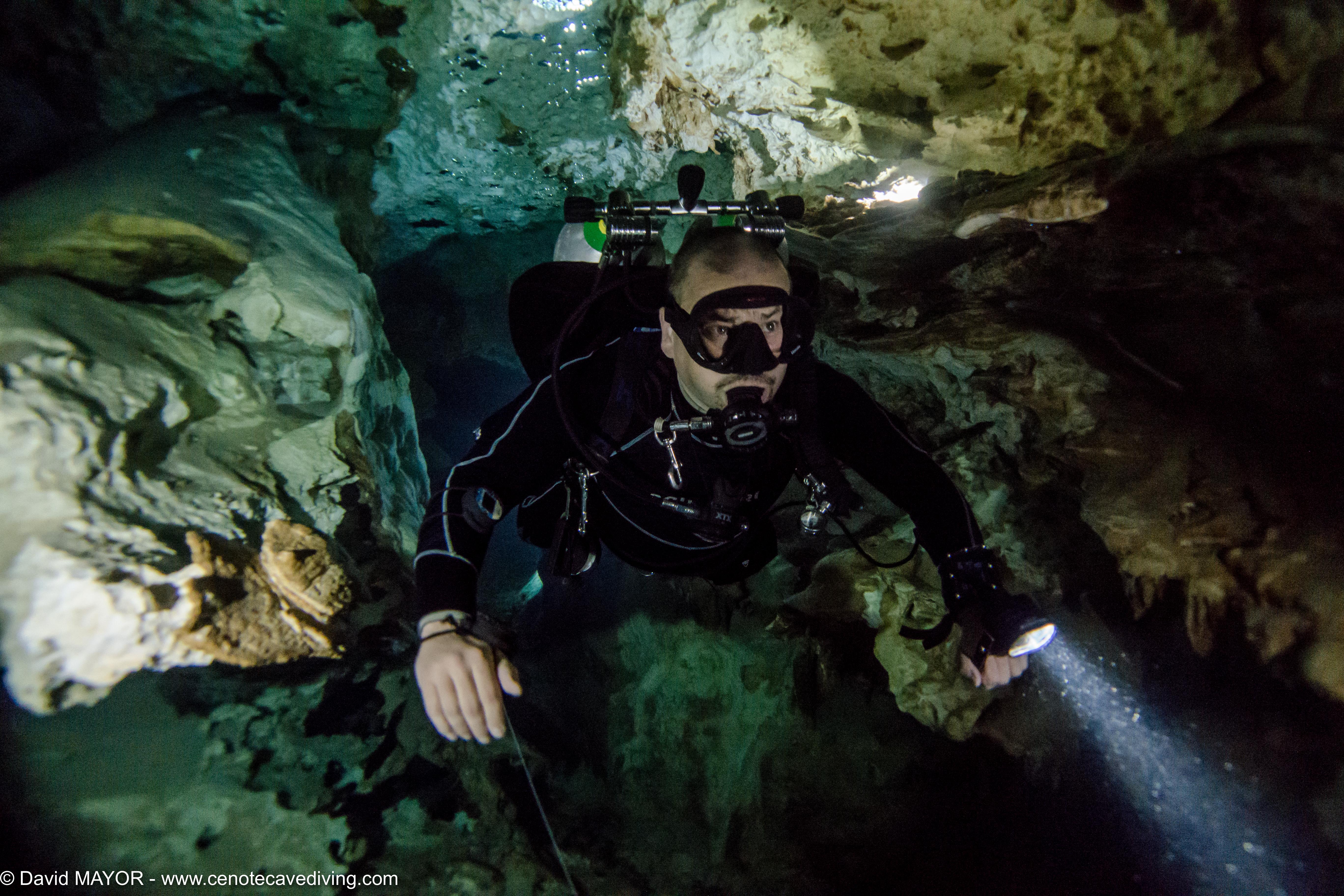 Cave Diving at Cenote Xunaan Ha