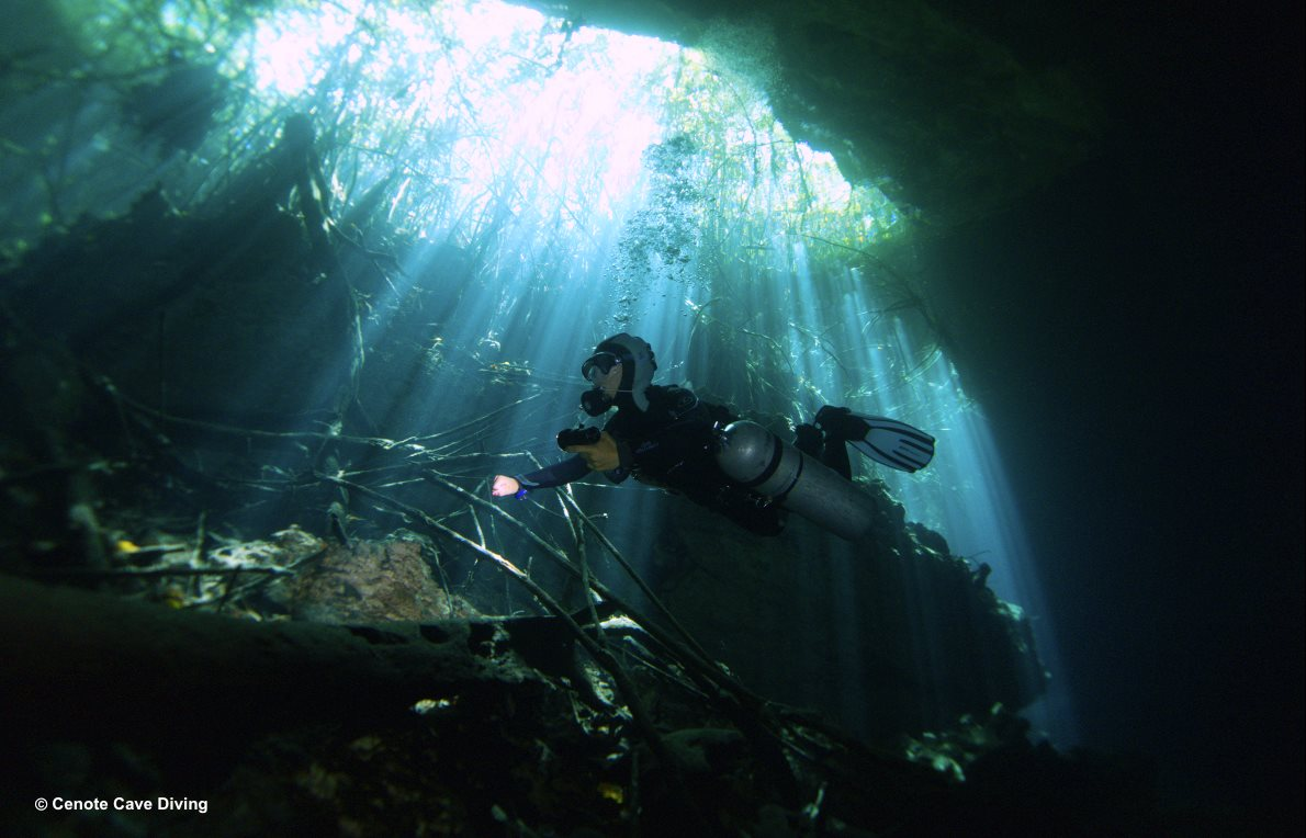Cavern Diving at El Eden