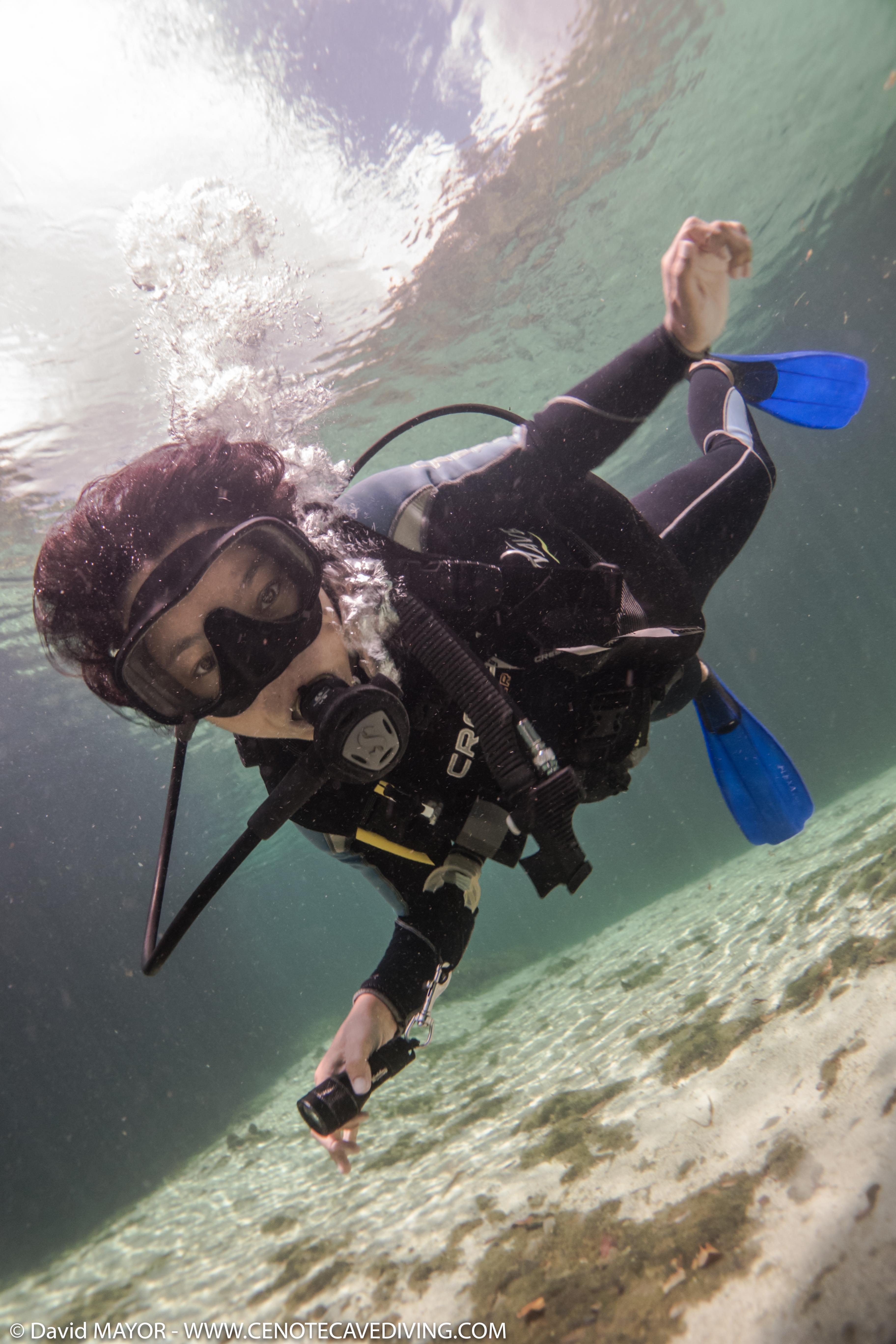 Gabrielle at Casa Cenote Advanced OW