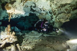 Cave Diving at Cenote Xunaan Ha