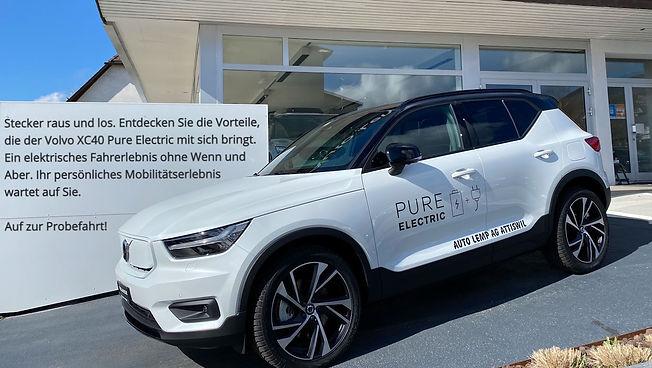 Volvo XC40 Pure Elektric bei der Auto Le