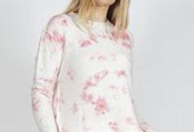SASS Sadie Knit Top Tie Dye Pink