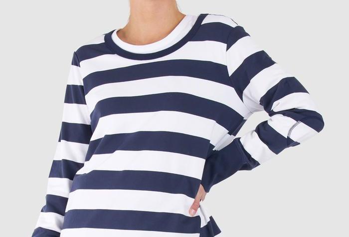 BETTY BASICS Dolly Sweater Navy/White Stripe