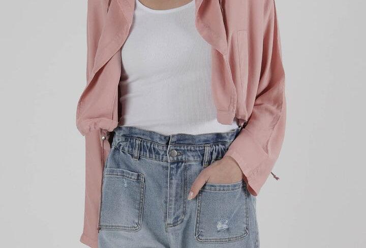 SASS Frankie Cropped Jacket - Rose