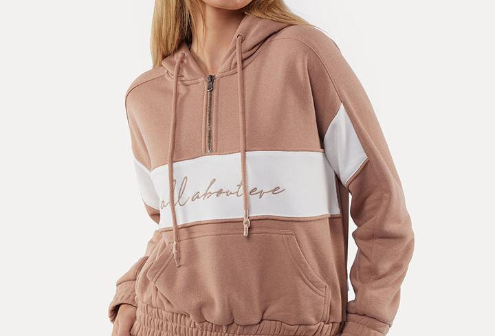 ALL ABOUT EVE Old School Hoodie Tan