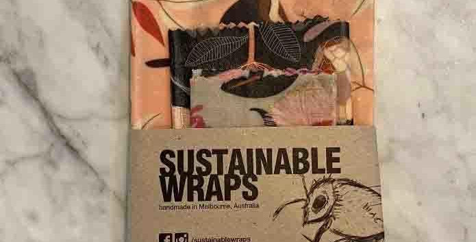 SUSTAINABLE WRAPS - Medium Natives 3 pack assorted prints.
