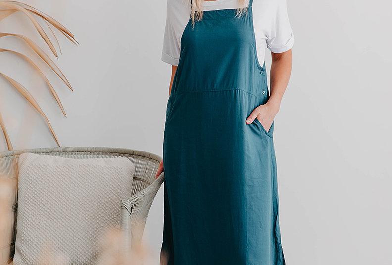 FREEZ Apron Dress -Teal