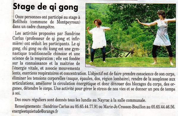 Qi gong à Refilhols, Montpeyroux, Aveyron