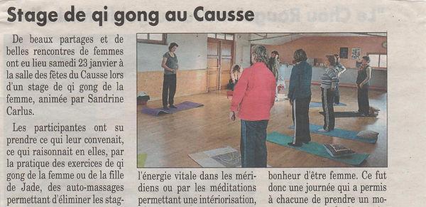 Stage de qi gong au Causse par Sandrine Carlus