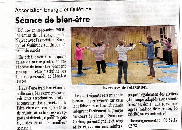 Qi gong au Nayrac, avec Sandrine Carlus.