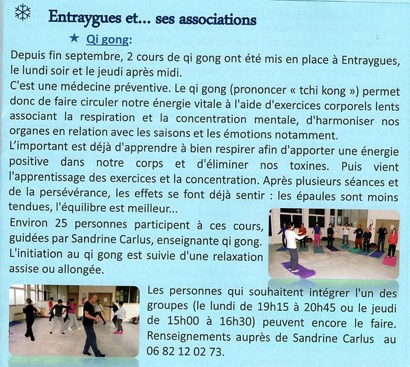 cours de qi gong à Entraygues sur Truyère par Sandrine Carlus