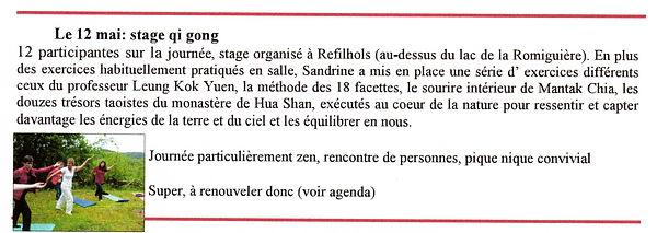 Stage de qi gong à Refilhols par Sandrine Carlus