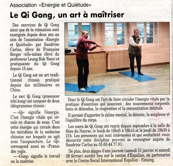 Qi gong dans le Nord Aveyron à Le Nayrac
